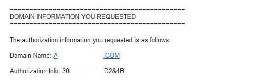 Письмо с Authorization Code.